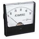 Analog Panel Meter, AC Current, 0-50 AC A - Also available in(0 - 10 AC A, 0 - 50 DC V, 2.5-4.5 in size, AC & DC )